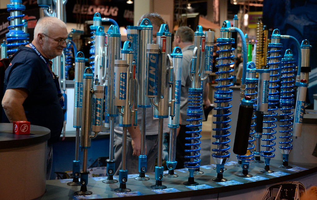 . Nov 6,2013 Las Vegas NV. USA. The King Shocks bar on display during the second day of the 2013 SEMA auto show. Photo by Gene Blevins/LA Daily News