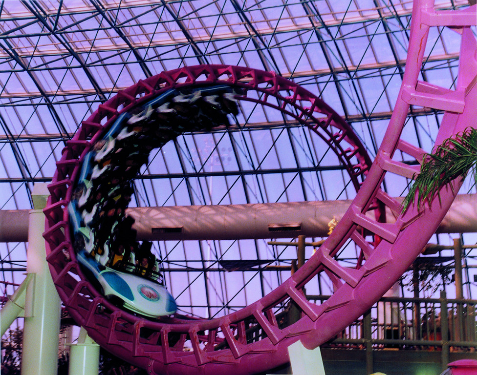 . The Canyon Blaster at Adventuredome at Circus Circus features back-to-back corkscrews. Provided by MGM Resorts International