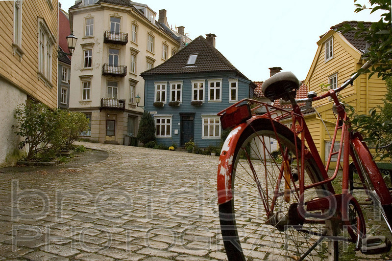 Red Bike in Bergen, Norway