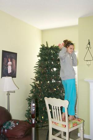 Decorating the Leonard Tree