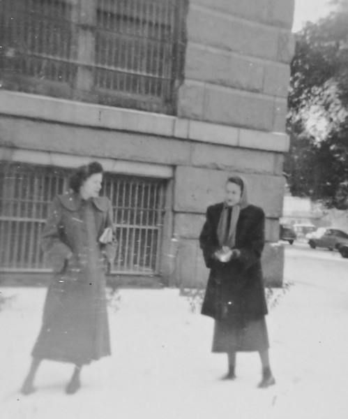 Maria and co-worker at the Harris County Courthouse. Houston, Texas 1947