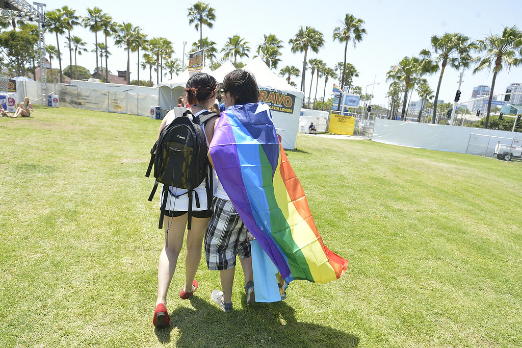 . LONG BEACH, CALIF. USA -- The 30th annual Long Beach (Calif.) Lesbian & Gay Pride celebration Saturday, May 18, 2013. Photo by Jeff Gritchen / Los Angeles Newspaper Group
