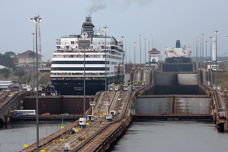 Entering Panama Canal