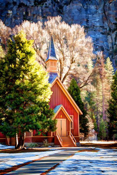 Yosemite Chapel Winter