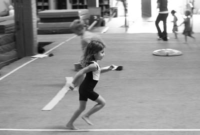 September - Abigail does gymnastics