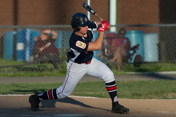 06/27/19 Wesley Bunnell | Staff Berlin Post 68 Legion baseball vs Southington Post 72 on Thursday June 27, 2019. Southington's Brandon Kohl (2)