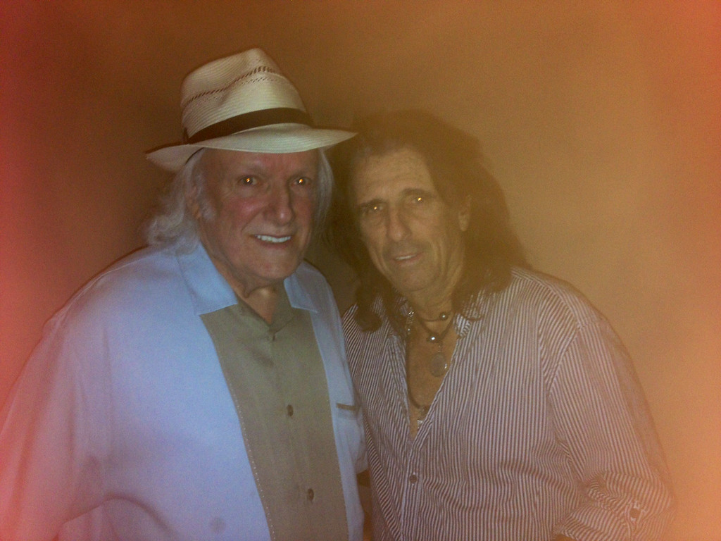 . Dick Wagner (left) with Alice Cooper on June 17, 2014