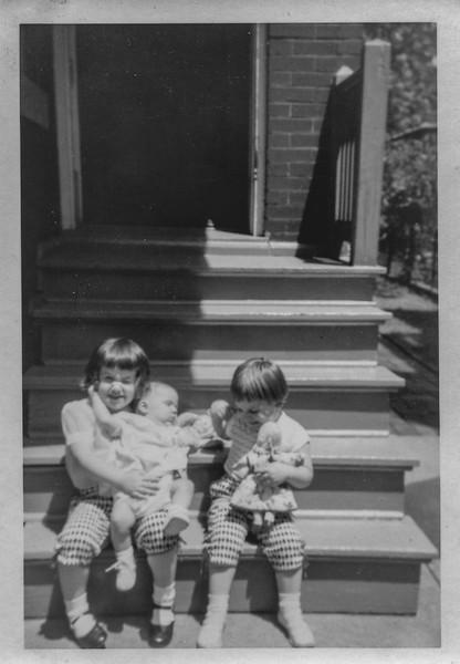 Chris, Nancy and Fran  Printed June 11th, 1955