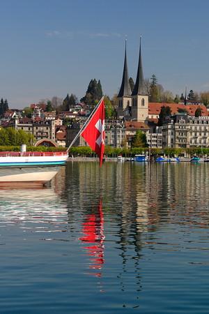 View across water in Lucerne, Switzerland. © 2005 Kenneth R. Sheide