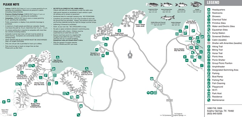 Cooper Lake State Park -- South Sulphur Unit