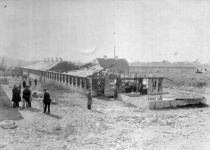 Fire scene at Tuscan Dairy on 10-24-1930.