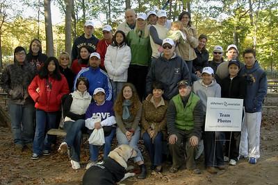 Memory Walk to end Alzheimer's. Dellridge Team,Oct.28,2007