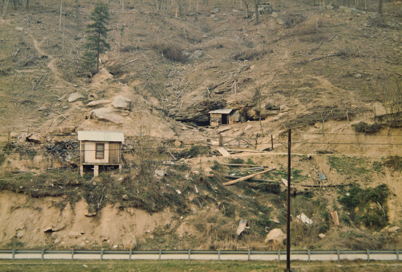 Home mine--dug into side of the mountain