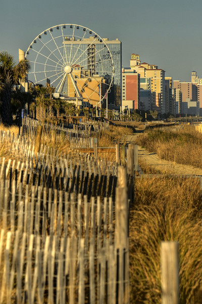 The view along the Boardwalk in Myrtle Beach, South Carolina on Saturday, January 28, 2012. Copyright 2012 Jason Barnette