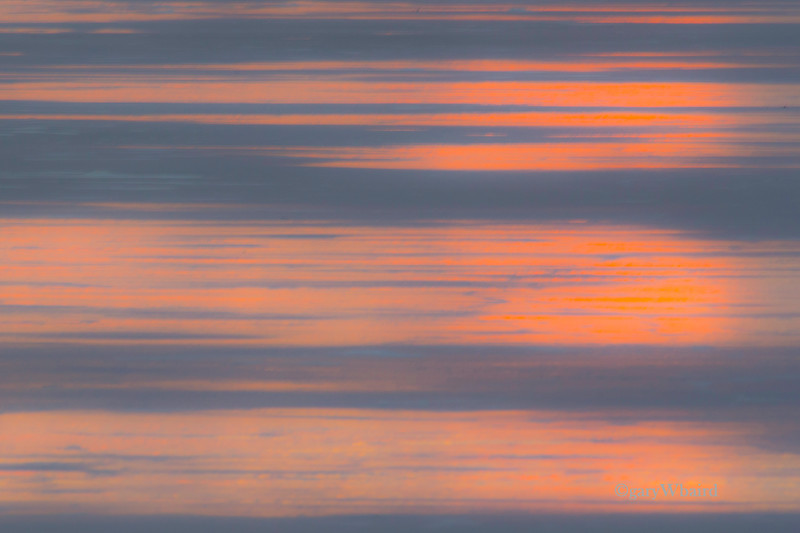 Sunset on Sand Abstract