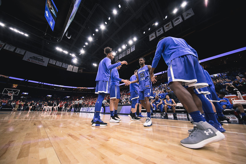 Indiana State takes on Illinois State during Arch Madness on Friday, March 2, 2018 at the Scottrade Center in St. Louis, Missouri