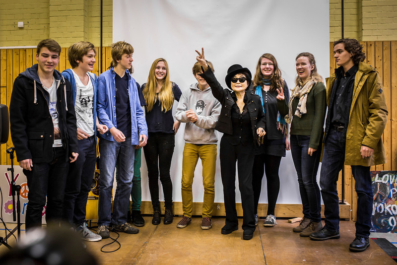 2013_10_15, Berlin, DE, eu.lb.org, Germany, JLETB, John Lennon Gymnasium, Premiere, Video Premiere, Yoko Ono, Students