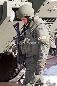Robert St. Fire and Police Standoff (Bridgeport, CT) 2/13/13