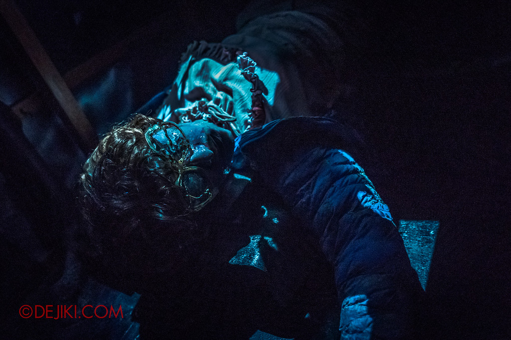 USS Halloween Horror Nights 8 Stranger Things haunted house maze - Dead Barb in Upside Down