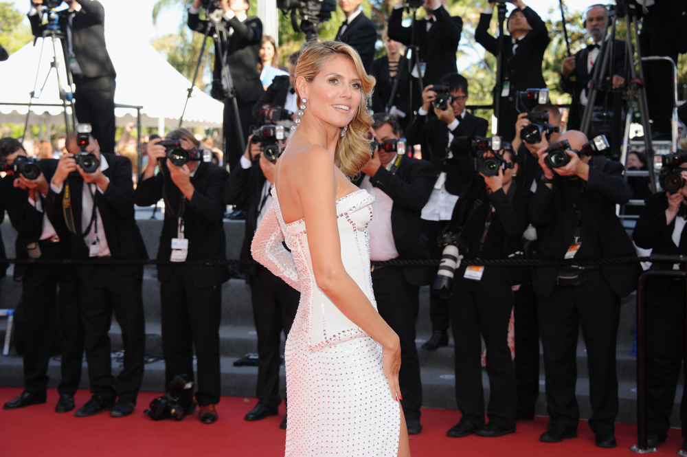 . Heidi Klum attends the \'Nebraska\' premiere during The 66th Annual Cannes Film Festival at the Palais des Festival on May 23, 2013 in Cannes, France.  (Photo by Stuart C. Wilson/Getty Images)