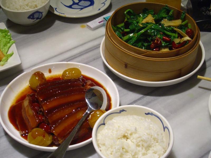 Chinese Pork, Greens and Rice - Beijing, China