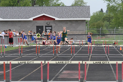 2013 MHSAA Highland Conference Girls 300 Meter Hurdles