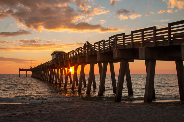 Sunsets at Sharky's on the Pier