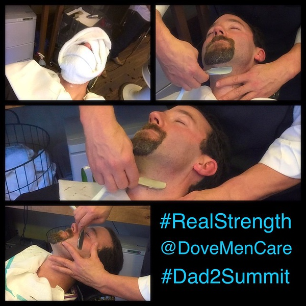 Nothing better than a straight shave. Thanks @dovemencare #RealStrength #dad2summit