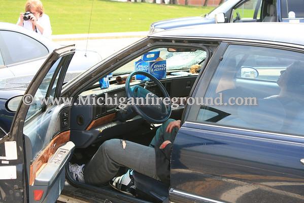 5/13/11 - Leslie mock crash, Leslie High School