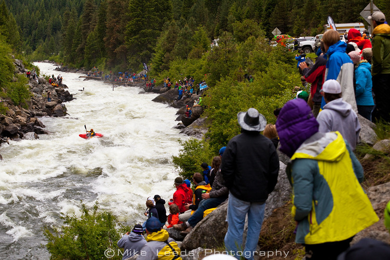 Daren Albright making the move at Rodeo Hole in Jacob's Ladder during the North Fork Championship 2012
