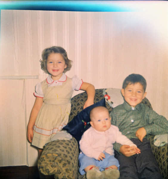 Jeanette, Shari, and Jeff Grant - Peru, Indiana - 1961