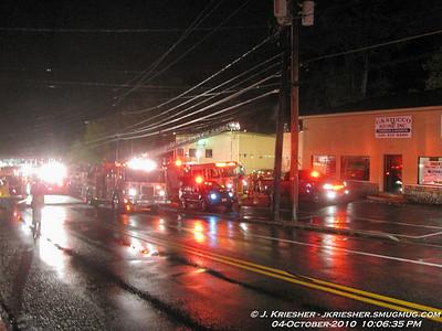 Lehigh County - Salisbury Twp. - 2+ Alarm Commercial Fire - 10/4/2010