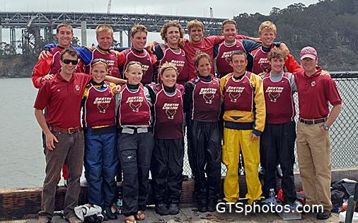 Boston Collage Team at APS ICSA Team Race Nationals