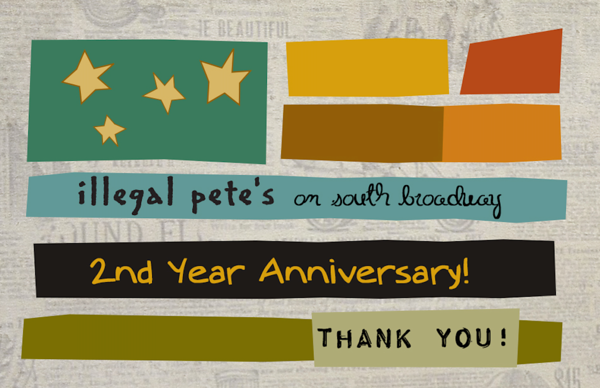 Illegal Pete's 2nd Anniversary Party