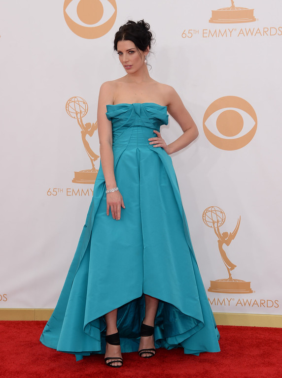 . Actress Jessica Pare arrives at the 65th Annual Primetime Emmy Awards held at Nokia Theatre L.A. Live on September 22, 2013 in Los Angeles, California.  (Photo by Jason Merritt/Getty Images)
