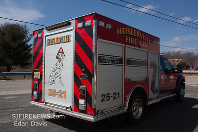 03-23-2013, Heislerville Fire Co. (Cumberland County) Rescue 25-21.