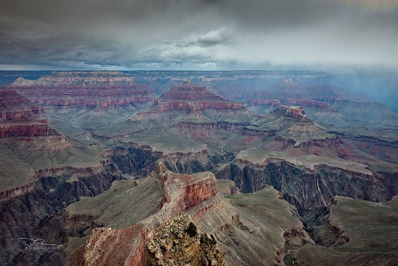 Grand Canyon Storm Clouds.  Hopi Pt.