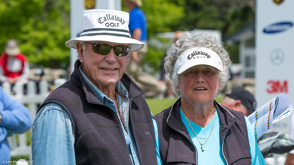 Spectators enjoying the action on the 2nd day of competition  in the Asia-Pacific Amateur Championship tournament 2017 held at Royal Wellington Golf Club, in Heretaunga, Upper Hutt, New Zealand from 26 - 29 October 2017. Copyright John Mathews 2017.   www.megasportmedia.co.nz