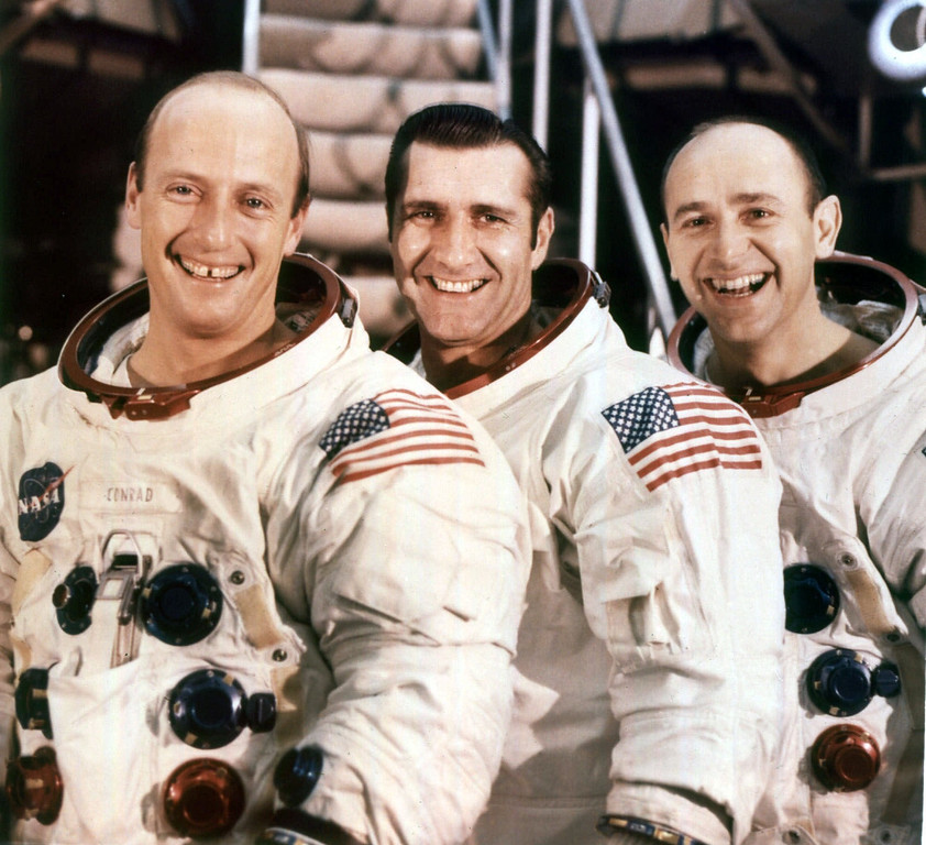 ". 1970 Rose Parade grand marshals, Apollo 12 astronauts, left to right, Charles P. ""Pete\"" Conrad, commander, Richard F. Gordon, command module pilot, and Alan L. Bean, lunar module pilot. ( AP Photo /NASA, ho )"