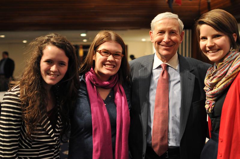 Ashley Harris, Allison Drenan, Owen Ullmann, and Jessica Hibbard at the National Press Club