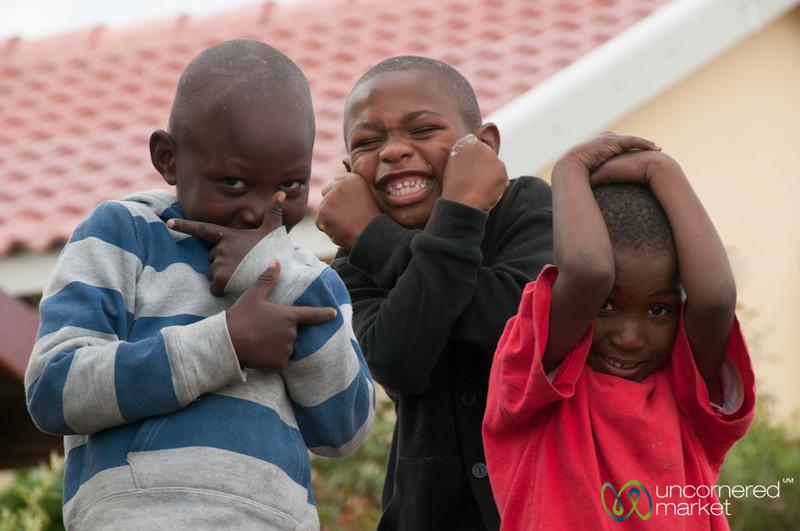 South African Boys Having Fun - Masiphumelele