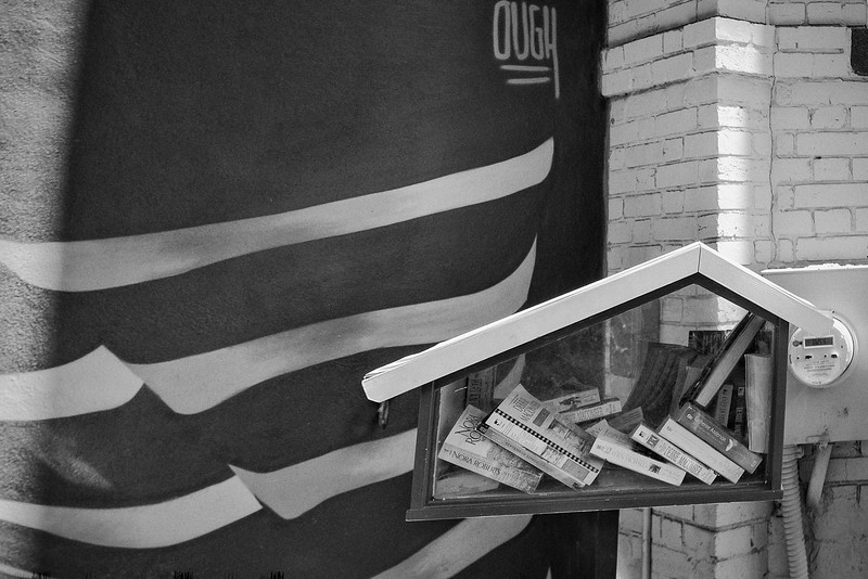 Bloomingdale little library with gray mural-.jpg