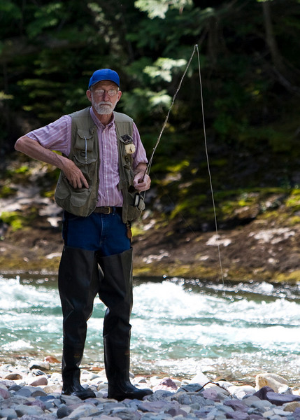 """The most dangerous of all creatures in Glacier National Park - The """"Geezer""""."""