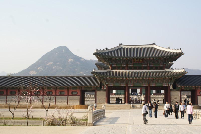 At Gyeonbokgung temple.