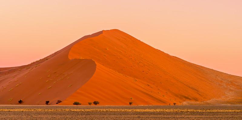 Subtle tone of a Sossusvlei Sunset