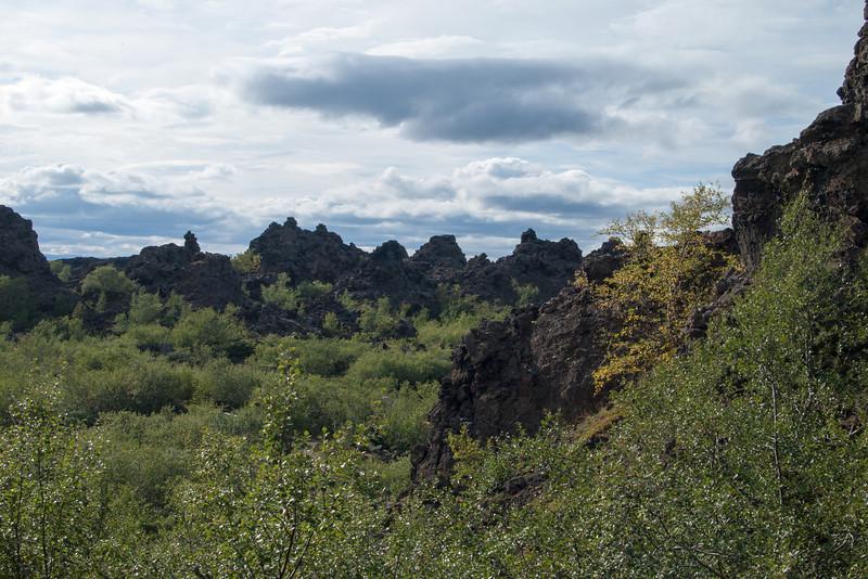Dimmuborgir Lava formations.