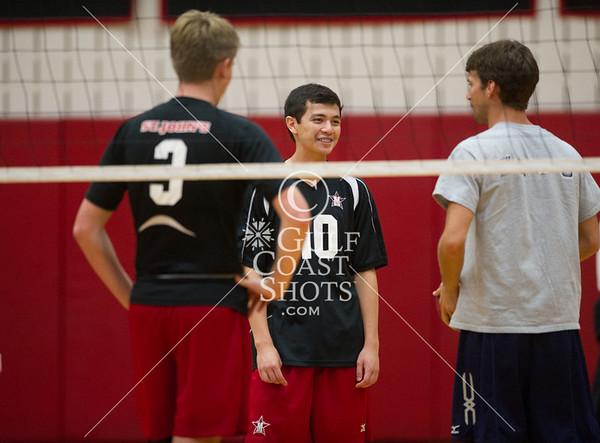 2013-10-05 Volleyball Boys Varsity St. Mary's Hall @ St. John's