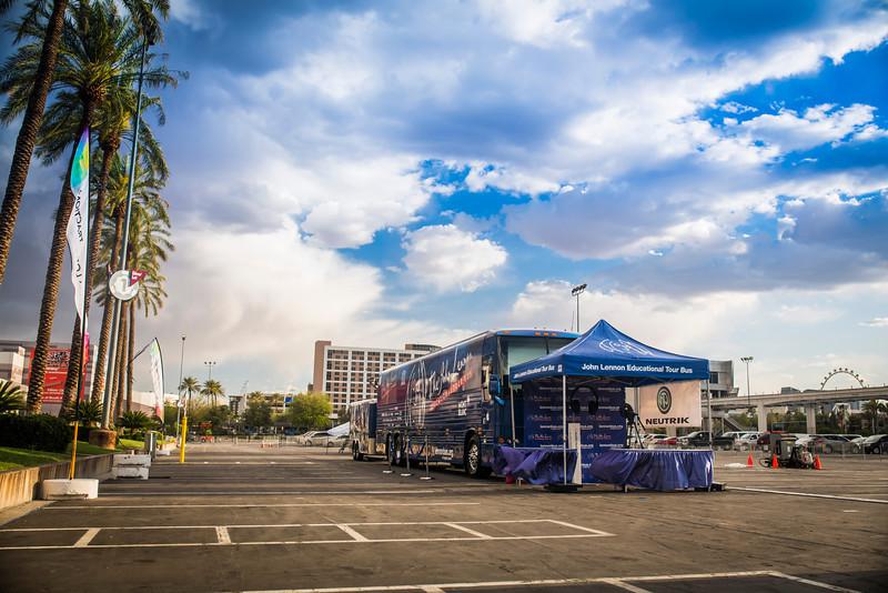 2014_04_05, Convention, Las Vegas, NAB, National Association of Broadcasters, Nevada, NV, Trade Show, USA, JLETB, Bus, lb.org
