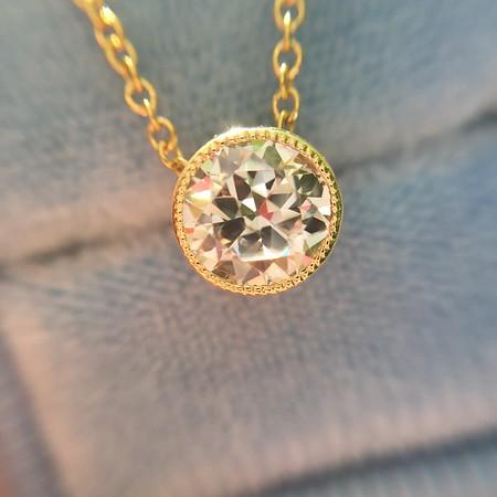 .51ct Old European Cut Diamond Bezel Pendant
