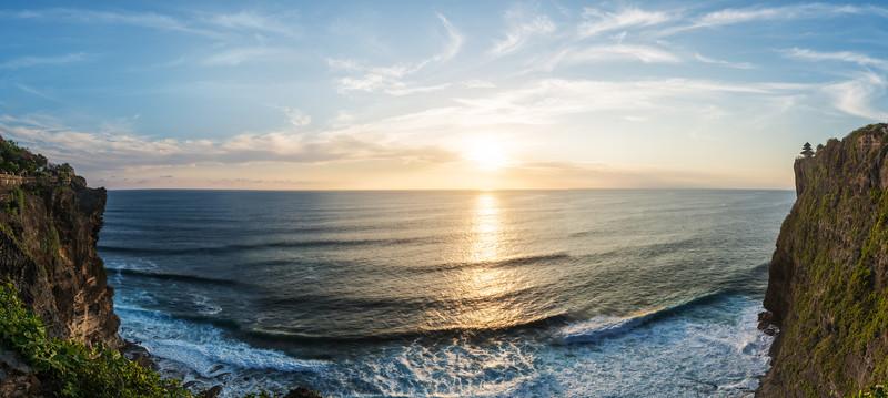 A Panorama Sunset In Bali